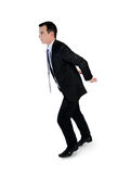 Business man carry something. Isolated business man carry something Royalty Free Stock Photo
