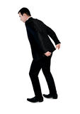 Business man carry something. Isolated business man carry something Stock Images