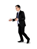 Business man carry something. Isolated business man carry something Royalty Free Stock Images
