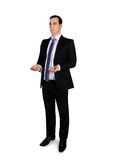 Business man carry something Royalty Free Stock Image
