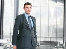 Business man carrying a computer bag Royalty Free Stock Photos