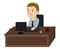 Business man cartoon Stock Photography