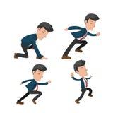 Business Man Cartoon Action Run Vector Stock Photo