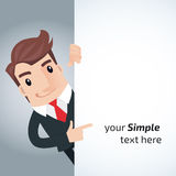 Business man cartoon Royalty Free Stock Photo
