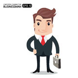 Business man cartoon. Character.- vector illustration Royalty Free Stock Photos