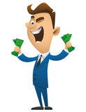 Business man cartoon character vector illustration bs3 Royalty Free Stock Image