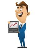 Business man cartoon character vector illustration bs2 Royalty Free Stock Photos