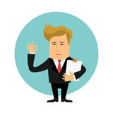 Business man cartoon character vector illustration Stock Images
