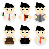 Business Man cartoon. Illustration Royalty Free Stock Photo