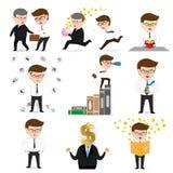 Business man cartoon set Stock Images