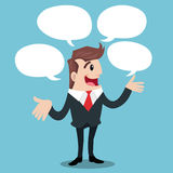 Business man cartoon Royalty Free Stock Images