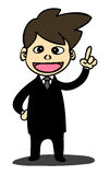 Business man cartoon style Royalty Free Stock Image