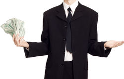 Business man with cash Royalty Free Stock Images