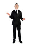 Business man catch something. Isolated business man catch something Royalty Free Stock Image