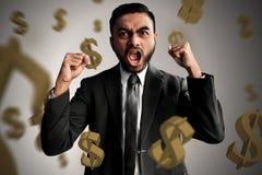Business man celebrating get rewards. Business man celebrating get reward Royalty Free Stock Images