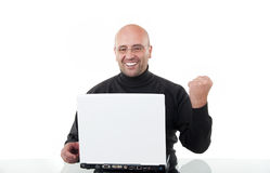 Business man celebrating his success Stock Photography