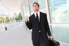 Business Man Celebrating Success Royalty Free Stock Image