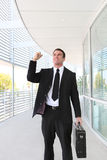 Business Man Celebrating Success Stock Images