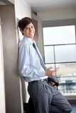Business Man with Cell Phone Stock Photography