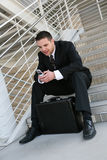 Business Man with Cell Phone Royalty Free Stock Photography