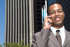 Business man on cell phone Royalty Free Stock Photo