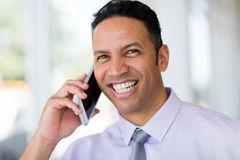 Business man cell phone Stock Image