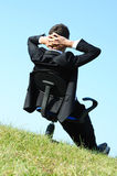 Business Man on chair Royalty Free Stock Photo