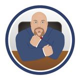 Business Man - Character Icon Royalty Free Stock Photography
