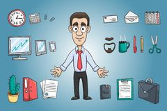 Business man character pack Royalty Free Stock Image