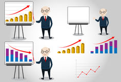 Business Man Characters Boss Stock Images