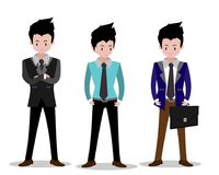 Business man characters.business concept growth, effort and going beyond,cool background Vector illustration.Cartoon style. Business man characters.business Royalty Free Stock Photo