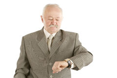 Business man checking watch Stock Photos