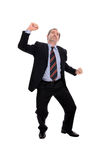 Business man cheering Royalty Free Stock Photography