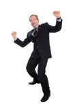 Business man cheering Stock Photos