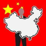 Business man with China sign Stock Image