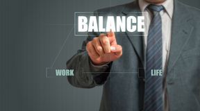 Business Man Choosing Balance Stock Photo