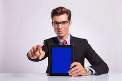 Business man choosing you Stock Photography