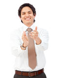 Business man clapping Royalty Free Stock Photos