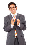 Business man clapping Stock Photos