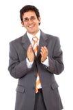 Business man clapping Stock Photos