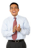 Business man clapping Royalty Free Stock Photography