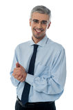 Business man with clasped hands Stock Photos