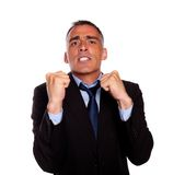 Business man with clenched fists Stock Photography