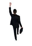 Business man climb something. Business man climb something Royalty Free Stock Image