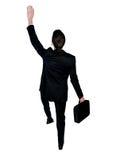 Business man climb something Royalty Free Stock Photos