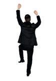 Business man climb something Royalty Free Stock Photo