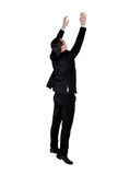 Business man climb something. Isolated business man climb something Royalty Free Stock Images