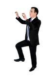 Business man climb something Stock Image