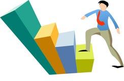 Business man climbing. Graph Stock Image
