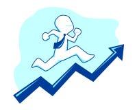 Business man climbing graphic Royalty Free Stock Photos
